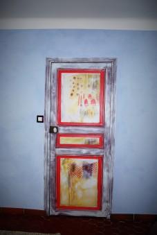 Décor peint sur porte