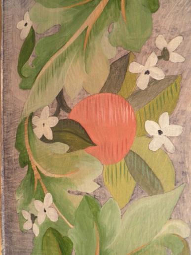 Détail décor peint acrylique.