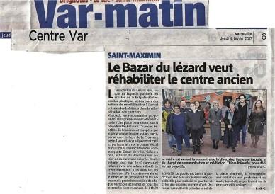 """Article à propos du projet """"Une place pour tous"""" à St maximin: ateliers de sensibilisation à l'art tous les mercredis , tout public."""