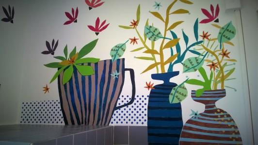 Détail Décor peint acrylique