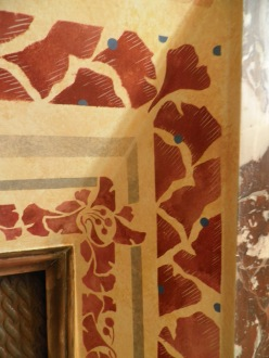 Frise pour cheminée style art déco acrylique.
