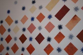 Détail Décor peint montée d'escalier.